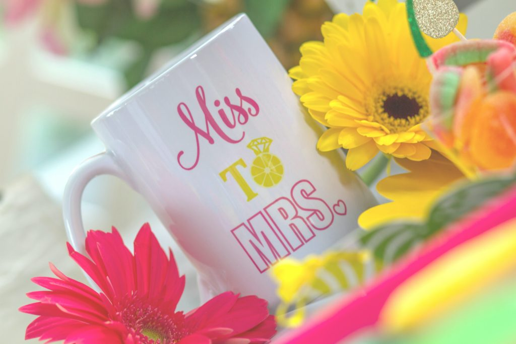 Personalized bridal shower mug