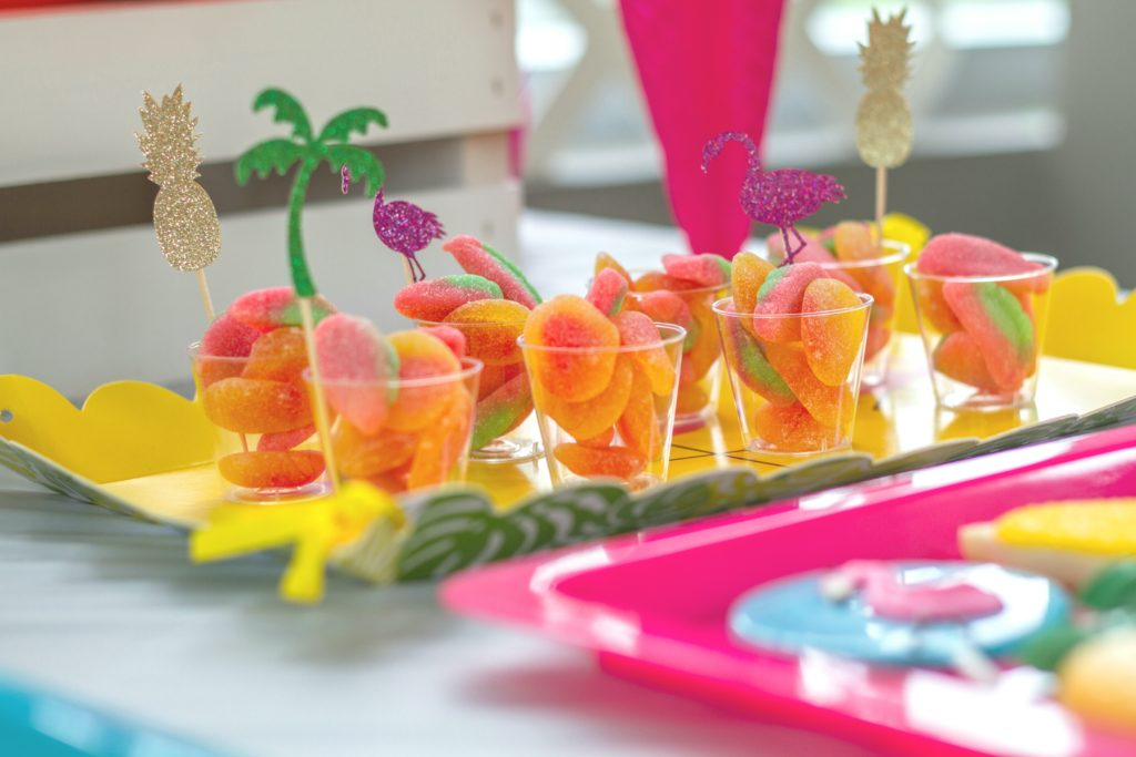 Fuzzy Peach and Watermelon slice candies