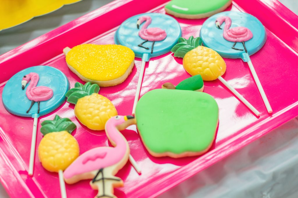 Tropical Themed Cookies