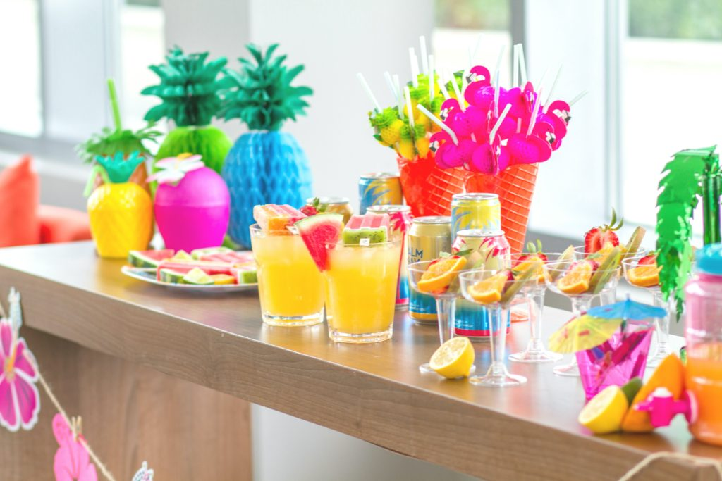 DIY Tropical Drink Bar