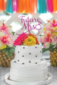 Tropical Bridal Shower Cake