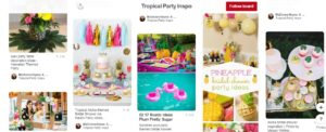 Tropical Bridal Shower Pinterest Inspiration Board