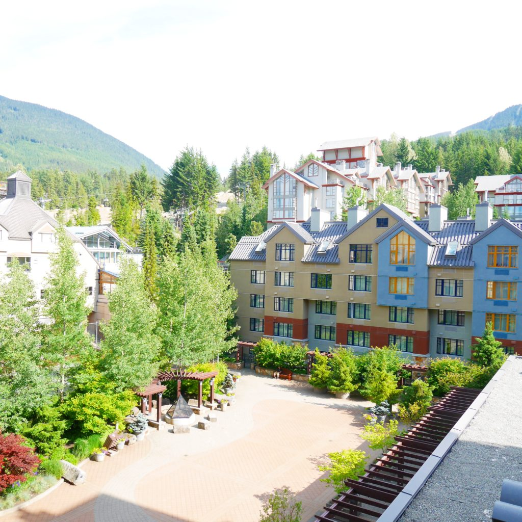 Outdoor Balcony view from Hilton Whistler Resort & Spa