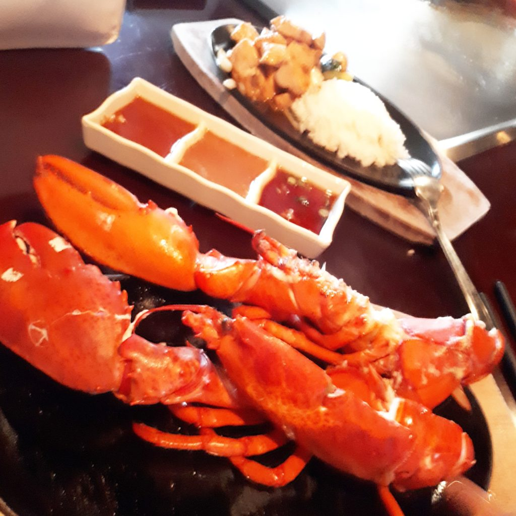 Lobster Dinner at Teppan Village Whistler