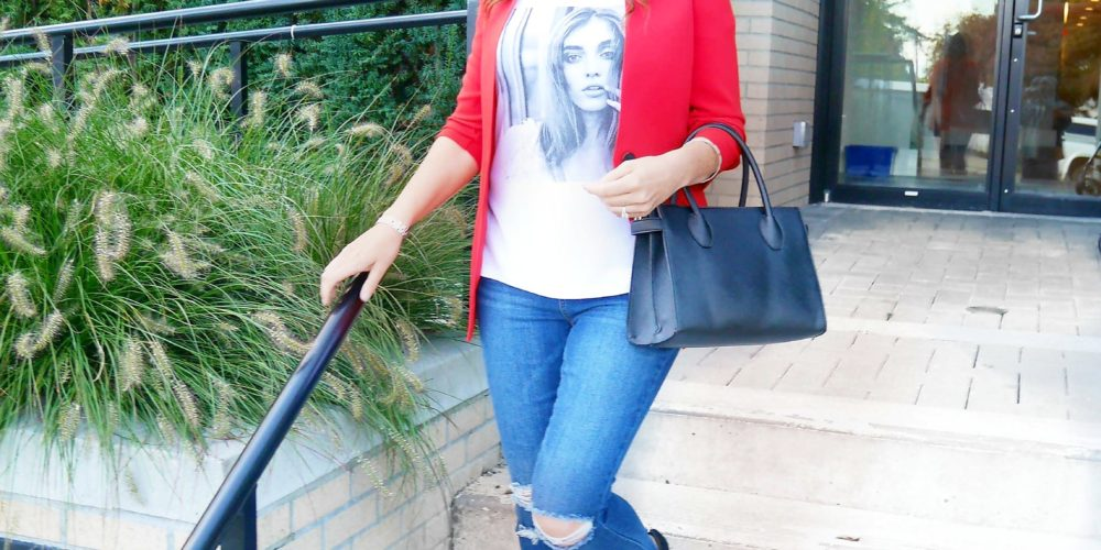 OOTD: Fired up in Red for Fall