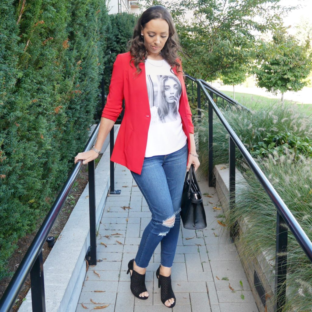red fall ootd