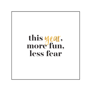 less fear quote